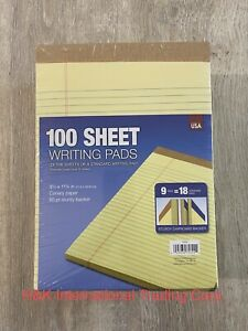 Tops 100 sheet Legal Pads pack Of 9 Pads Canary Yellow Made In Usa