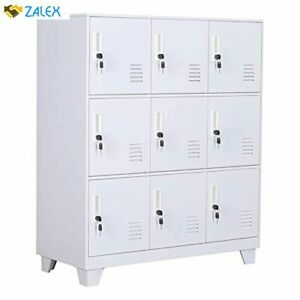 Nitetronic 9 door Assembled And Combinable Office Metal File Locker School Lab