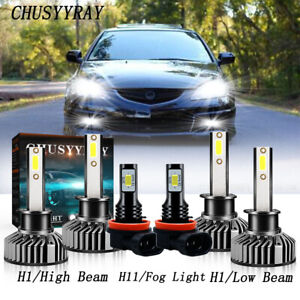 For Acura Rsx 2002 2003 2004 H1 h1 Led Headlight Bulbs Hi lo Beam Fog H11 Kits