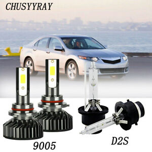 For 2009 2013 2014 Acuratsx Led Headlight High 9005 D2s Low Beam Hid Xenon 4pc