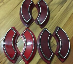 3 Pairs 62 1962 Pontiac Catalina Grand Prix Stop Tail Light Lenses Taillight 389