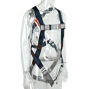 Safety Fall Protection Kit Full Body Harness With 6 Shock absorbing Lanyard