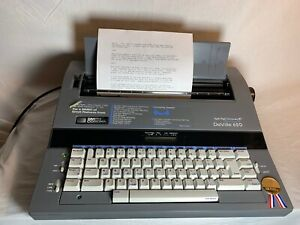 Smith Corona Deville 650 Electric Typewriter W Cover And New Ribbon