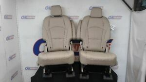 19 Buick Enclave Oem Second Row Rear Seat Set Tan Leather