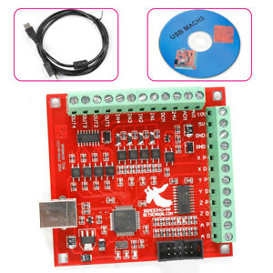 4 axis Usb Interface Board Cnc Mach3 Motion Controller Card Board W usb Cable Cd