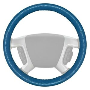 For Chevy Camaro 12 15 Steering Wheel Cover Europerf Perforated Sea Blue