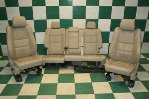 14 19 Grand Cherokee Tan Leather Power Memory Buckets Backseat Seat Set Oem