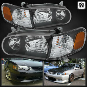 For 2001 2002 Toyota Corolla Black Headlights corner Signal Lamps