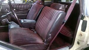 78 88 Chevy Monte Carlo G Body Cloth Seat Set front rear Bench W Arm Rest Oem