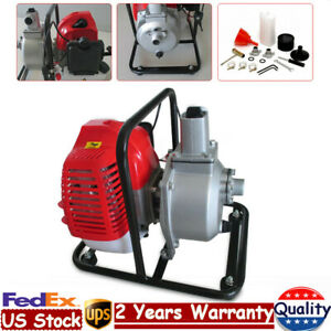 1 Inch Petrol Water Transfer Pump 2hp 43cc 2 stroke Air cooled Petrol Engine Us