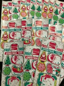 Vintage Christmas Tags from Coca-Cola 48 Sheets