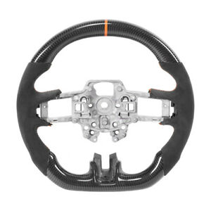 Carbon Fiber Steering Wheel W Orange Stitching For Ford Mustang Ecoboost Gt 2018