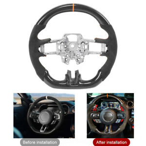 Carbon Fiber Steering Wheel For Ford Mustang Ecoboost Gt Shelby Gt350 Gt350r Fz