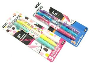 2 Packs 6 Pens Inc Couture Comfort Grip Retractable Ball Point Pens Black Ink