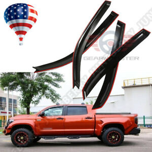 For Toyota Tundra Crewmax 2007 2019 Door Vent Visors Rain Guards Deflectors Us
