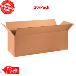 20 pack 36 X 12 X 12 Long Cardboard Corrugated Boxes 65 Lbs Capacity Ect 32