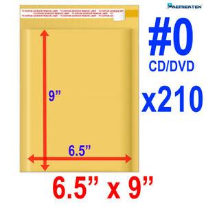 Size 0 6 5x9 Kraft Bubble Mailer Dvd Cd wide 250 Ct fast Shipping
