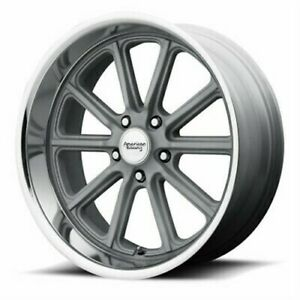 4 New 18x9 5 American Racing Rodder Mag Grey Cut Lip Wheel rim 5x114 3 Et0