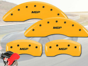 2011 2015 Jaguar Xj 5 0l Front Rear Yellow Mgp Brake Disc Caliper Covers 4pc