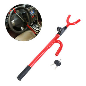 Universal Steering Wheel Lock With 2 Keys Anti Theft Security System Car Truck