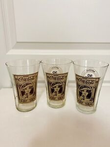 Krystal 50 Year Anniversary Coca Cola Glasses 1932-82 Growing with the South (3)