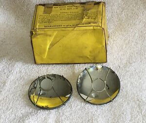 Antique Glass Lens Headlight Reflectors Vintage Bulb Mirror Driving Light Lamp
