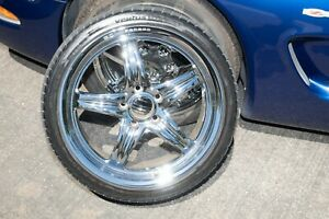 Weld Racing Evo Bc 09 C5 C6 Corvette Wheels With Almost New Hankook Tires