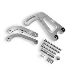 For Sbc 327 350 383 Small Block Chevy Polished Aluminum Power Steering Bracket