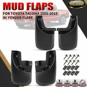 4x Front Rear Splash Guards Mud Flaps Mudguards For Toyota Tacoma 2005 2015
