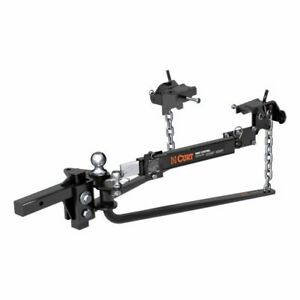 Curt 17063 Mv Round Bar Weight Distribution Hitch With Sway Control New