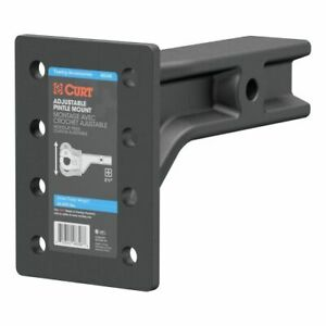 Curt 48348 Adjustable Pintle Mount For 2 1 2 In Hitch Receiver 20000 Lbs New