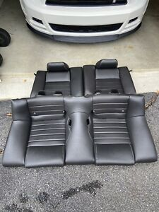 2011 2014 Ford Mustang Gt Coupe Oem Leather Rear Back Seat Black Seats