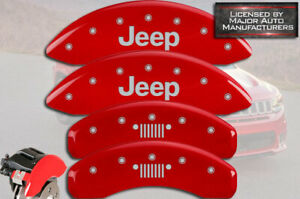 2011 2020 Jeep Grand Cherokee Front Rear Red Mgp Brake Caliper Covers Grill