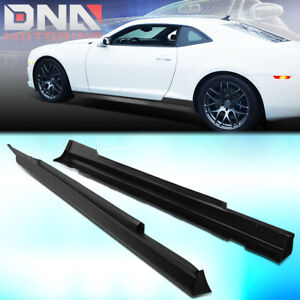 For 2010 2015 Chevy Camaro Zl1 Style Pair Abs Side Skirts Extension Lip Body Kit