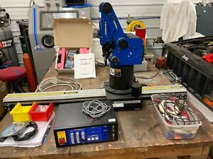 Eshed Robotec Scorbot er 4u With Controller Teach Pendant And Slide Axis Etc
