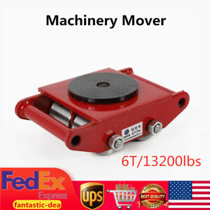 6t 13200lbs Heavy Duty Machinery Mover Dolly Skate Roller Trolley Moving Roller