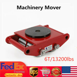 6t 13200lb Machinery Mover Dolly Skate Roller Trolley Heavy Duty Moving Roller S