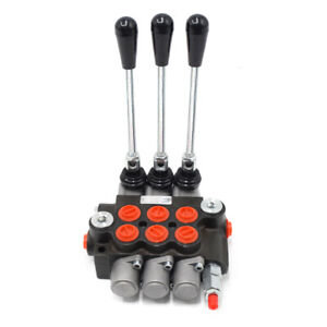 3 Spool Hydraulic Directional Control Valve Pressure Valves 11 Gpm For Loader Us