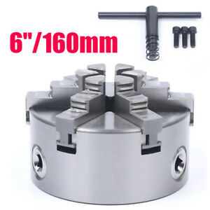 Adjustable 6 6 claw 160mm Self centering Lathe Chuck Cnc Milling Drill Machine