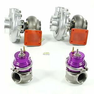 Pair T4 Flange Turbo Ar 0 80 Ar0 81 60mm Wastegare For Ls1 Ls2 Ls7 Ls9 V8 Engine