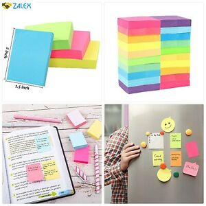 20 Pads Mini Sticky Notes 10 Colors 1 5 X 2 Inches Small Self stick 100 Sheets P