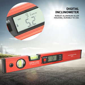 Lcd Digital Inclinometer Level Meter Magnetic Protractor Angle Finder Ruler