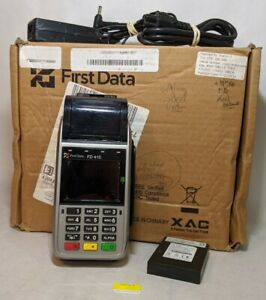 First Data Fd 410 Aapt 103puw Credit Card Payment Processing Terminal