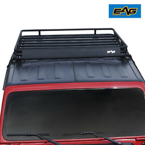 Eag Fits 18 20 Jeep Wrangler Jl Roof Rack Cargo Carrier W Wind Fairing