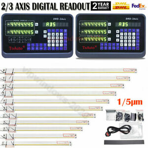 Linear Sensor Scale 2axis 3axis Digital Readout Dro Display For Mill Lathe Edm