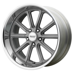 20x9 5 American Racing Vn507 Vintage Silver Wheels 5x120 65 0mm Set Of 4
