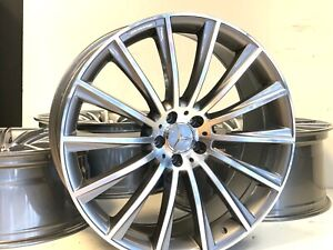 21 Staggered Wheels Rims Fit Mercedes Benz Amg S Class S550 06 2020 Gray 5x112