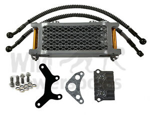 Piranha Complete Oil Cooler Kit Mount For Honda Crf50 Xr50 Atc70 And Clones