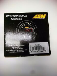 Aem X Series Oil Pressure Gauge 0 100 Psi Black Black 30 0301