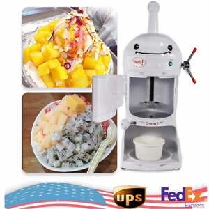 Electric Snow Cone Machine Ice Shaver Maker Shaving Crusher Dual Blades Top